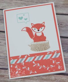 Stampin' Up! UK Feeling Crafty - Bekka Prideaux Stampin' Up! UK Independent Demonstrator: Foxy Friends - A Cute Card for Any Occasion