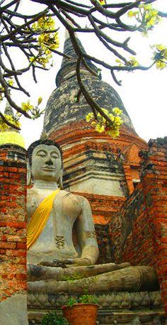 Temple in Ayutthaya: http://bbqboy.net/ayutthaya-thailand-train-rides-and-drunk-germans/ #ayutthaya #thailand