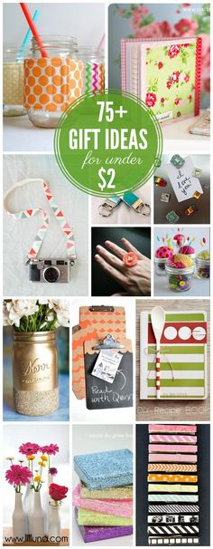 Diy Crafts Ideas : 75+ Awesome Gift Ideas For Under $2!!  lilluna.com  #giftideas #gifts  https://diypick.com/decoration/decorative-objects/crafts/diy-crafts-ideas-75-awesome-gift-ideas-for-under-2-lilluna-com-giftideas-gifts/