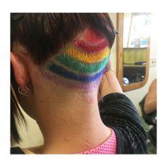 Getting creative with a rainbow undercut on Sasha last week! Used a mixture of Manic Panic and Affinage Colour Coordinates ❤️✂️ @manicpanicnyc @buzzcutfeed @affinageaustralia #undercut #colourwork #headart #rainbow #experimenting #hairbychelsealee #manicpanic #affinageaustralia #peekaboocolour #jarnessasalon #undercutdesign #undercutgirls #ferrariX2