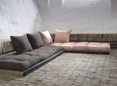 If you are looking for a flexible sit and sleep combination the the Loft set combines tatami mats and futon mattresses to form a sofa or beds, with UK delivery. Living Room Loft, Tatami Mat, Sofa, Home, Floor Seating Living Room, Floor Sitting, Tatami Bed, Living Room Seating, Tatami Room