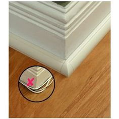 Cable managers - look more like molding than Wiremold - Fox Home Design Ideas Prácticas, Cable Management, Home Hacks, Organization Hacks, Getting Organized, Home Projects, Home Improvement, Household, Sweet Home