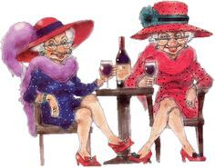Dress extravagantly while watching male strippers & drinking wine. Funny Old People, Old Folks, Old Lady Humor, Red Hat Ladies, Red Hat Society, Converse, Young At Heart, In Vino Veritas, Red Hats