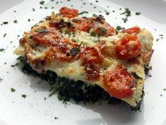 Spinat-Lasagne mit Ziegenfrischkäse, Feigen und Tomaten