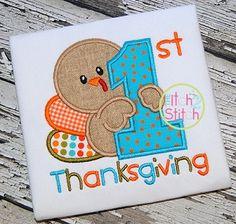 First Thanksgiving Applique
