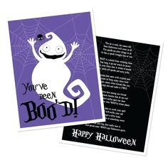 """See 14 different """"You've been BOOed"""" design. They are all very cute!  Which one will you choose?  Halloween candy"""
