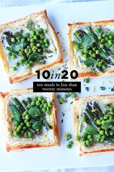 Spring Tarts with Asparagus, Peas & Mint 10 in Spring Veggie Recipes Think Food, I Love Food, Good Food, Yummy Food, Tasty, Veggie Recipes, Vegetarian Recipes, Cooking Recipes, Healthy Recipes