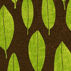 P & B Textiles House Designer - Always Blooming - Textured Leaves in Green