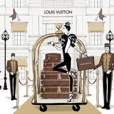 "355 Likes, 12 Comments - Megan Hess (@meganhess_official) on Instagram: ""Still one of my all time favorite commissions - my animation for Louis Vuitton.... you can see this…"""
