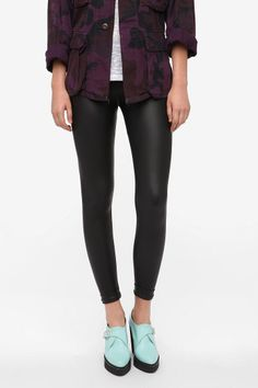 BDG Cuffed Faux Leather Legging - Urban Outfitters