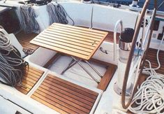 Boat cockpit table / integrated / teak - - CASA MARE - Videos