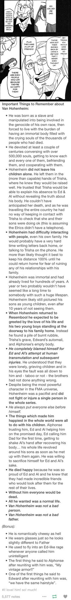 Why Hohenheim is my favorite and gives me all the feels.