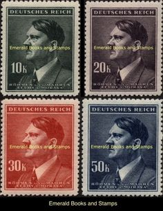 EBS Bohemia & Moravia Böhmen & Mähren 1942 Adolf Hitler Michel 107-110 MNH** | eBay