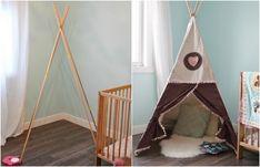 Tipi Zelt im Babyzimmer aus Bambusstangen