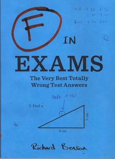 F in Exams: The Very Best Totally Wrong Test Answers by Richard Benson#Books #Humor