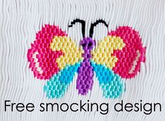 Free Smocking Patterns and Plates | It is an e-pattern, so you will need Adobe Acrobat Reader toview it ...