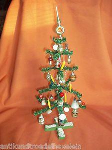 wunderschöner alter Weihnachtsbaum 40 cm. viele alte Christbaumkugeln - Kerzen