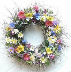 """Spring & Summer Wildflower - Silk Wreath 19"""""""