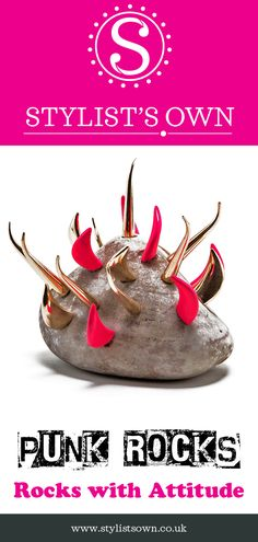 Punk Rocks - Well what can we say? It's a rock with spikes on it. it's a Punk Rock! Punks not Dead, long live Punk Rocks® - Rocks with serious attitude! Punks Not Dead, Long Live, Spikes, Punk Rock, Attitude, Rocks, Take That, Healthy, Studs