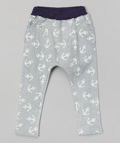 Blue Anchor Pants - Infant, Toddler & Kids | zulily