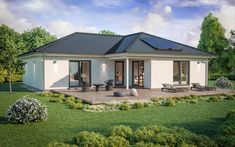 Bungalow SH 115 WB XXL Variante B - ScanHaus Marlow | HausbauDirekt House Layout Plans, House Layouts, Contemporary House Plans, Modern House Design, Town Country Haus, Small Villa, Bungalow Exterior, Types Of Houses, Model Homes