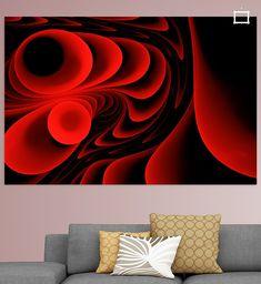 Abstrakte Wellen Rot von Max Steinwald