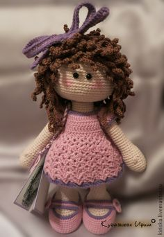 Crochet sweet doll - love her hair