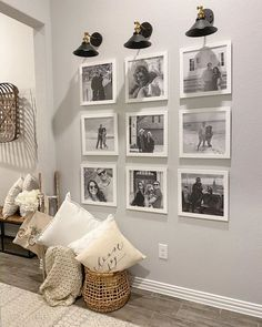 How to Create a Flawless Photo Gallery Wall in 5 Easy Steps Family Wall Decor, Family Room, Home Living Room, Living Room Decor, Hallway Decorating, Room Inspiration, Diy Home Decor, Interior Design, Design Art