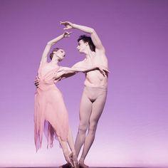 "Uliana Lopatkina and Marat Shemiunov in Roland Petit's ""La Rose Malade."" Photo (c) Nikolay Krusser."