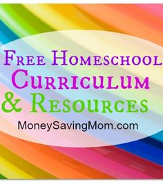 Check out this HUGE list of FREE #homeschool printables, resources, and curriculum.