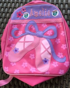 Amelie Dance Bag Ballet Shoes Or Backpack Pink And Lilac Purple #Unknown