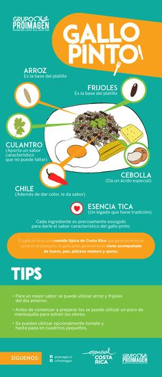 Learn the best recipe for Gallo Pinto, the most important traditional dish in Costa Rica gastronomy. Gallo Pinto, Middle School Spanish, Elementary Spanish, Spanish Idioms, Spanish Lessons, Latin American Food, Latin Food, Spanish Cuisine, Spanish Food