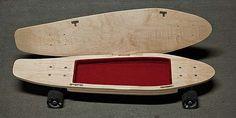 Erfinder Darin A. Lewis hat mit dem BriefSkate ein Skateboard mit integriertem