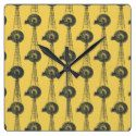 Yellow and Grey Windmill Pattern Square Wallclock Windmill, Yellow, Grey, Pattern, Gray, Model, Repose Gray, Patterns, Pattern Print