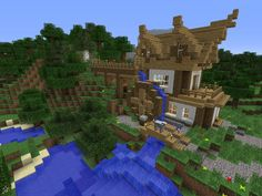 Water wheel in Minecraft #waterwheel #minecraft #STEM