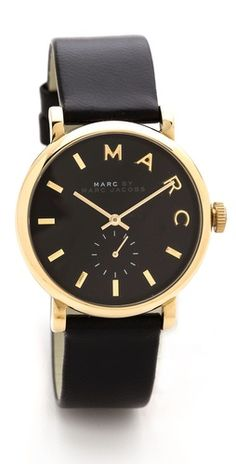 Marc Jacobs Leather Baker Watch