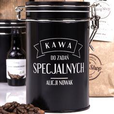 Kawa ziarnista w grawerowanej puszce SPECJALNA