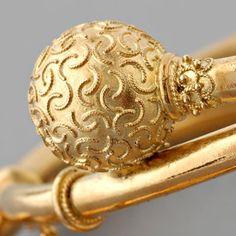 Pair of Antique English Victorian Etruscan Revival Bangle Bracelet Set,ca 1880 Roman Jewelry, Gold Rings Jewelry, Viking Jewelry, Ancient Jewelry, Jewelery, Victorian Jewelry, Antique Jewelry, Vintage Jewelry, Bracelet Set