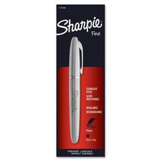 NEW - Stainless Steel Permanent Marker, Fine Tip, Black - 1747388 Sharpie http://www.amazon.com/dp/B0086DPOMC/ref=cm_sw_r_pi_dp_t4kQwb13ASTTD
