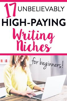17 High Paying Freelance Writing Niches for 2020 (+ Yearly Salaries) - Elna Cain Email Writing, Online Writing Jobs, Freelance Writing Jobs, Script Writing, Writing Advice, Blog Writing, Writing A Book, Creative Writing, Grant Writing