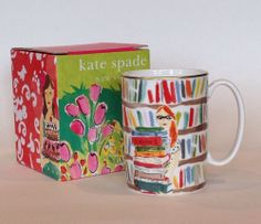 New Kate Spade Illustrated Library Books Mug Lenox 10 oz Girl Rare   SR: Why does it have to be so rare?