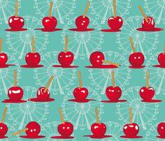Fair Candy Apples fabric by juliesfabrics on Spoonflower - custom fabric