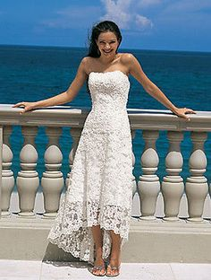 Brand New Lace White or Ivory Beach Wedding Dresses Gown Custom size