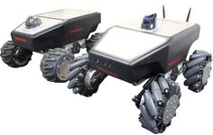 The mobile robot SUMMIT-XL HL operates both indoors and outdoors and withstand heavy loads. Autonomous navigation or teleoperated by camera Pan-Tilt-Zoom. Mobile Robot, Drones, Arduino Projects, Firefighter, Race Cars, Outdoor Power Equipment, Monster Trucks, Mini, Robotics