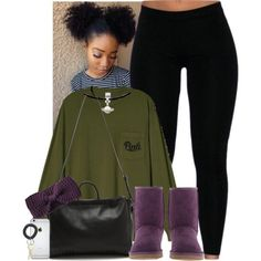 A fashion look from November 2015 featuring UGG Australia ankle booties and 3.1 Phillip Lim shoulder bags. Browse and shop related looks.