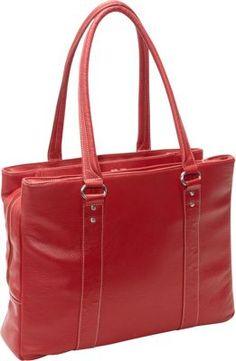 eBags Soho Triple Zip Leather Laptop Tote Red - via eBags.com!