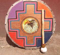Eagle Peruvian Medicine Drum Drumstick by LivingAltar