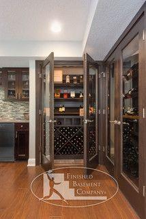 Basement Wine Cabinet Storage - modern - wine cellar - minneapolis - by Finished Basement Company