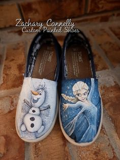 Disney's Frozen Youth Toms shoes by ZacharyConnellyArt on Etsy