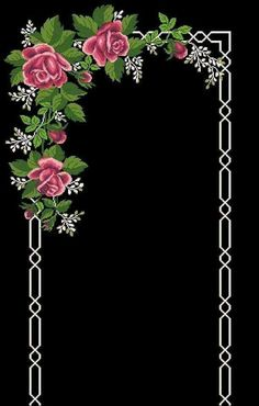 This Pin was discovered by Ayf Cross Stitch Rose, Cross Stitch Borders, Cross Stitch Flowers, Cross Stitching, Cross Stitch Embroidery, Embroidery Patterns, Hand Embroidery, Cross Stitch Patterns, Bordado Tipo Chicken Scratch